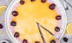 Цитрусова торта с къпини