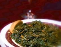 Ливанска кухня. Спаначена яхния с месо