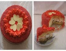 Торта с чийз крем и шоколадови целувки