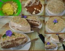 Бисквитена торта със заквасена сметана. От Виолета Матева