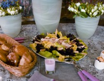 Салата с пиле и аспержи