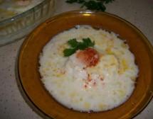Яйца с млечно-чеснов сос в конвекторна фурна. От Петя Цанкова