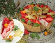 Чийзкейк с ягоди и екзотични плодове. От Ирина Андреева